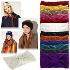 Women Turban Crochet Twist Knitted Headwrap Headband Winter Warmer Hair Band