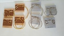 14 KT.GOLD OR SILVER PLATED HOOP EARRINGS MADE IN USA W/GIFT PACK BUY 2 OR MORE