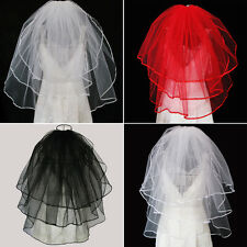 New Beautiful short elbow long Tull Bridal Veil Wedding veils 3-Layers with comb