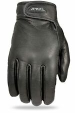 Fly Racing Rumble Leather Street Motorcycle Mens Black Thin Gloves