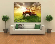 Wall Art Canvas Picture Print - Old Tractor in the Field
