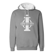 "Big and Tall Hoodie LT – XXXLT "" InspireOthers"" Gray White Fleece Sweatshirt"
