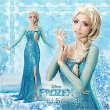 HOT! ADULT WOMENS Disney Frozen Elsa Princess Queen dress Costume for Xmas PARTY