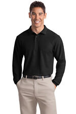 Port Authority Long Sleeve Silk Touch Polo. K500LS Mens
