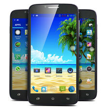 "5"" Touch Dual Sim Android 4Core Smartphone Unlocked 3G/GSM T-Mobile Cell Phone"