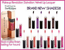 Makeup Revolution Salvation Velvet Lip Lacquer NUDE RED LIME CRIME LONG LASTING