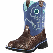 NEW Ariat Ladies Boots - Fatbaby Sheila - Pearly Croc