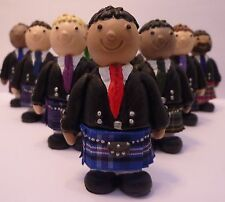 Scottish Wedding Topper with Rangers Tartan kilt & Ruche tie
