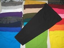 Cotton Spandex Capri Length Leggings Pants Misses Women's Plus Size S-3XL COLORS
