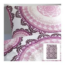 NEW IKEA LYCKOAX Duvet Cover Set TWIN KING Purples White