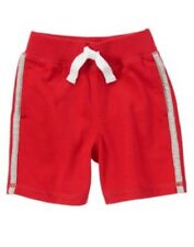 GYMBOREE HOME RUN KID RED RIB WAISTBAND KNIT SHORTS 3T 4T NWT