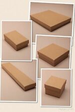 BROWN CARDBOARD GIFT / JEWELLERY BOXES - FLOCK PAD INSERT - WHOLESALE