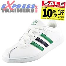 Adidas Junior Kids Vlneo Court Casual Classic Trainers White * AUTHENTIC *