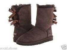 UGG AUSTRALIA WOMEN'S SHOES BAILEY BOW CHOCOLATE GENUINE BOOTS NEW UGG SALE