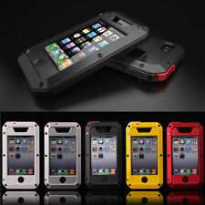 Waterproof Shockproof Aluminum Gorilla Glass Metal Case Cover for Apple iPhone 4