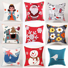HOT NEW Christmas Sofa Decorative Soft Chair Car Cushion Pillow Pillowcase+Inner