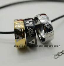 Legend of Zelda ring Stainless Steel Triforce rings 3 colors