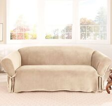 1PC Soft Micro Suede Furniture Slipcover for Sofa, Loveseat or Chair, 6 Colors