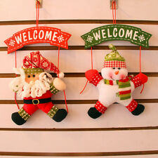 Christmas Party Ornaments Fabric Doll Hanging Decorations Snowman Moose Gift New