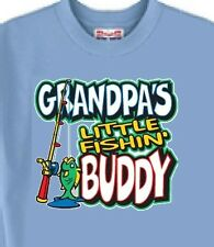 Grandpa's Little Fishing Buddy T-Shirt - 5 Colors - Also Mouse Pad Available