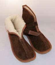 Mens/Womens Leather Sheepskin/Sheep's Wool Slippers Boots Size:6,7,8,9,10,11,12