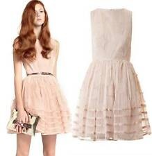 NWT 2014 RED Valentino Star Embroidered Organza Tuelle Dress in PINK & Black