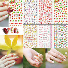 Water Transfer Decal Stickers Nail Art Manicure Tips Flower Butterfly Animal NEW
