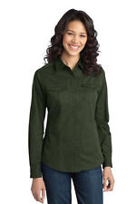 Sz  XS - 4XLPort Authority Ladies Stain-Resistant Roll Sleeve Twill Shirt. L649
