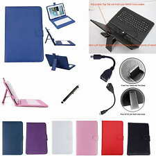 "Colorful Keyboard Case+Pen+OTG For 10.1"" ProntoTec Nepro 10D Android 4.4 Tablet"