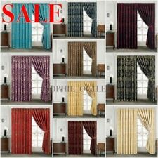 Premium Quality Heavy Jacquard Pair Of Pencil Pleat Window Curtains 66x72 90x90