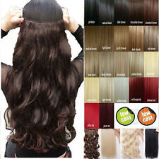 Clearance Price Half Head Clip In Hair Extensions Real Sexy Color Black Red T76