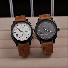 CURREN Men Watches Sport Men Military Leather Strap Band Quartz Wrist Cool Gifts
