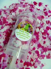Push Pop Biodegradable Confetti Pink  & White Hearts Vintage Handemade slow fall