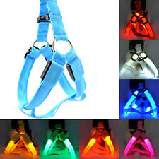 LED Glow  Pet Safety Collar Rope Flash Light Dog Puppy Belt Harness Leash Tether