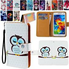 NEW Folio Flip Leather Stand Card Wallet Magnetic Cover Case For Samsung Phones