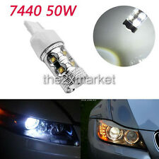 White High Power 50W 7440 LED Reverse Back up Light Bulb