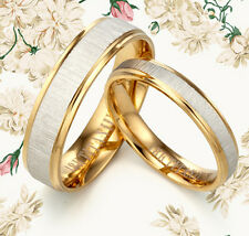Men Women 18K Yellow Gold Wedding Ring MKUS093 ZA8(PRICE FOR ONE RING)