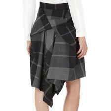 Vivienne Westwood Anglomania Grey Black Plaid Wool Skirt - UK 10 / 42