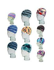 EYELINE Polyester Kids Youth SWIM CAP Lap Training Hat Swimming Bath PRINT KPSCS