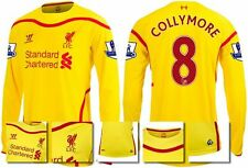 *14 / 15 - WARRIOR ; LIVERPOOL AWAY SHIRT LS + PATCHES / COLLYMORE 8 = SIZE*