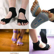 Yoga Pilates Professional Toe Socks For Women Open Foot Back