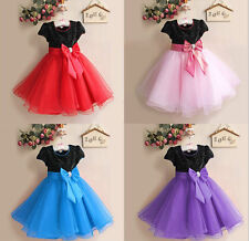 STOCK Formal Dress Party Flower Girl Princess Child Fancy  Dress party dress