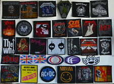 Band Patches pistols mod who rock punk slipknot ac/dc bullet day roses maiden oi