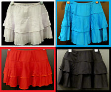 NEW! GIRLS / KIDS SLIP ON SKIRT. COLORS: RED, SKY BLUE (x1717)