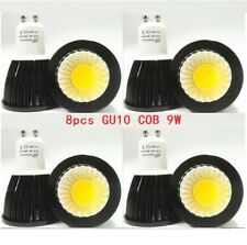 8X GU10 9W CREE COB LED Light Bulb Downlight lamps Black Dimmable or not