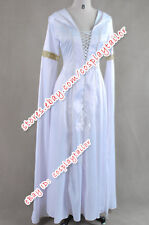 Legend Of The Seeker Cosplay Costume Kahlan Amnell Confessor White Hooded Dress