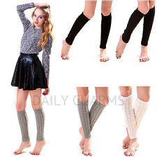 Women's Winter Knee High Crochet Leggings Knitted Leg Warmers Boot Cuff Socks