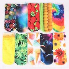 Personality Men Women Low Cut Ankle 3D Printed Animals Floral Socks 18 Colors