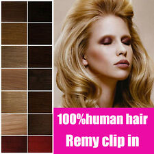 """Easy Clip In Remy Soft 100% Human Hair Extensions Full Head 7p 18""""-20"""" US STOCK"""