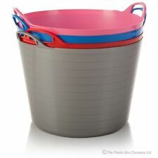 14L Liter flexi plastic large tub storage twin handle bucket building material